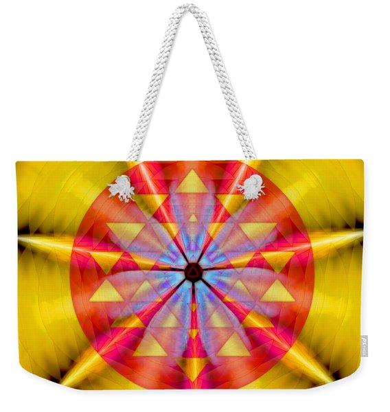 Geo-cosmic Sri Yantra Weekender Tote Bag