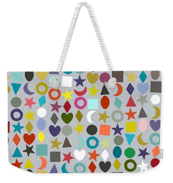 Geo Garland Silver Weekender Tote Bag