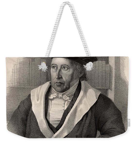 Georg Wilhelm Friedrich Hegel Weekender Tote Bag