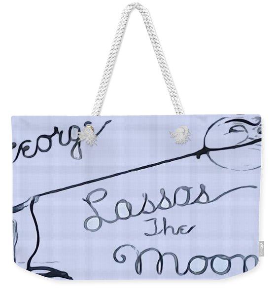 George Lassos The Moon Weekender Tote Bag
