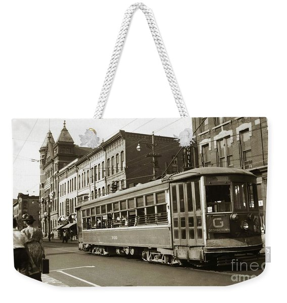 Georgetown Trolley E Market St Wilkes Barre Pa By City Hall Mid 1900s Weekender Tote Bag