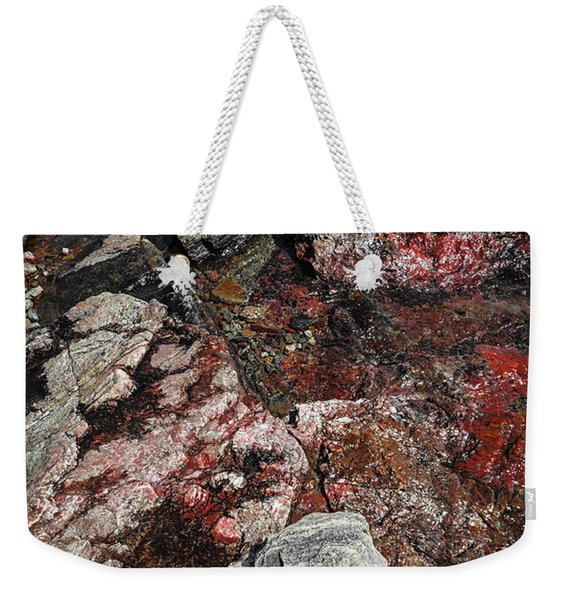 Georgian Bay Rocks Abstract II Weekender Tote Bag