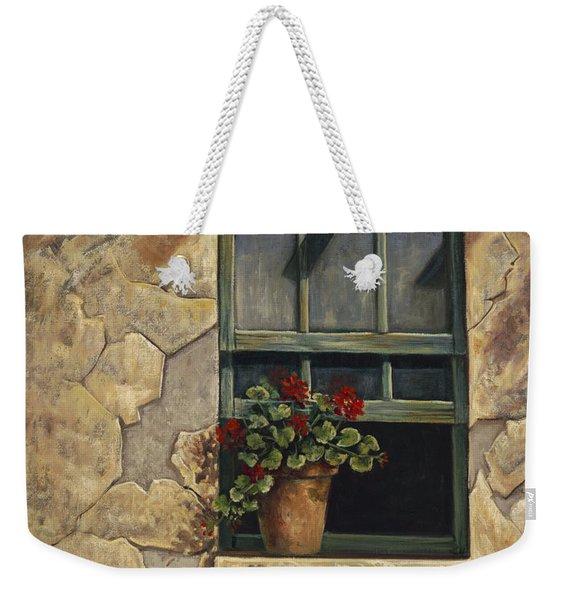 Geraniums And Shadows Weekender Tote Bag