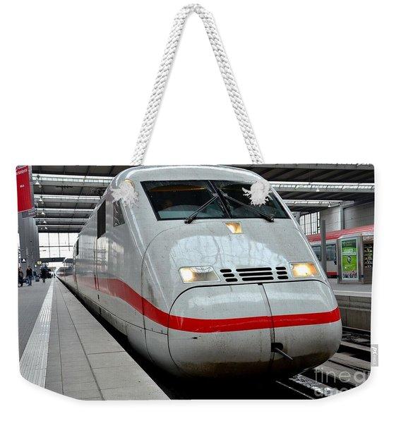 German Ice Intercity Bullet Train Munich Germany Weekender Tote Bag