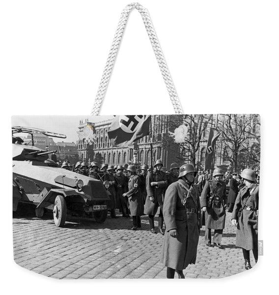 German Panzer In Vienna Weekender Tote Bag