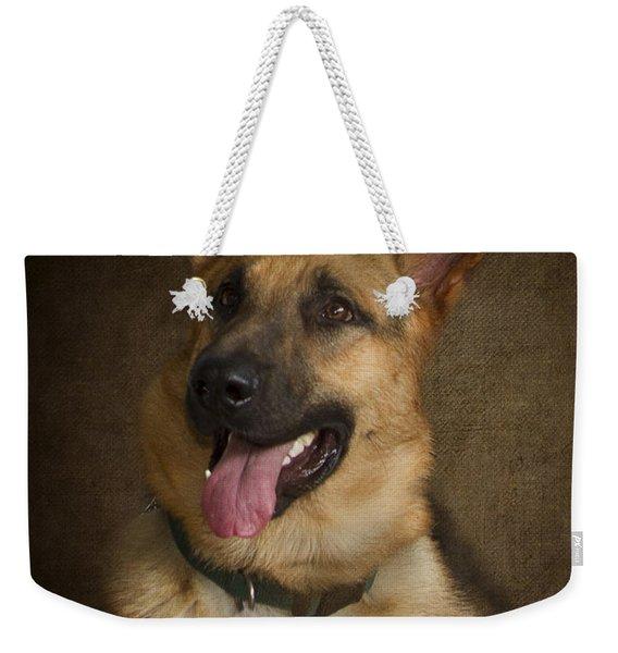 German Shepherd Portrait Weekender Tote Bag