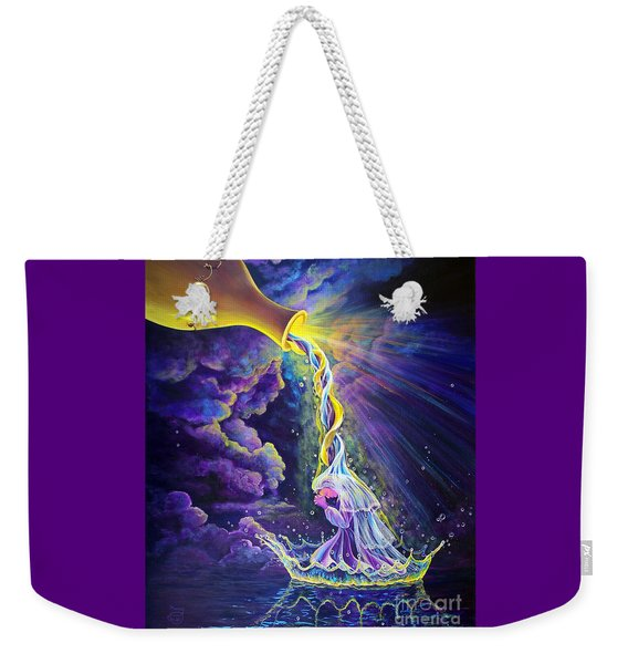 Weekender Tote Bag featuring the painting Get Ready by Nancy Cupp