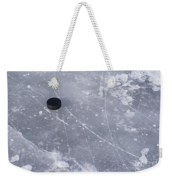 Get The Puck Outta Here Weekender Tote Bag