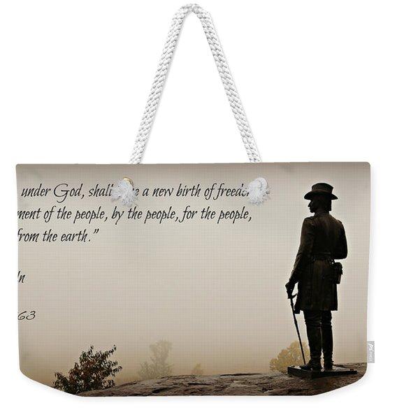 Gettysburg Remembrance Weekender Tote Bag