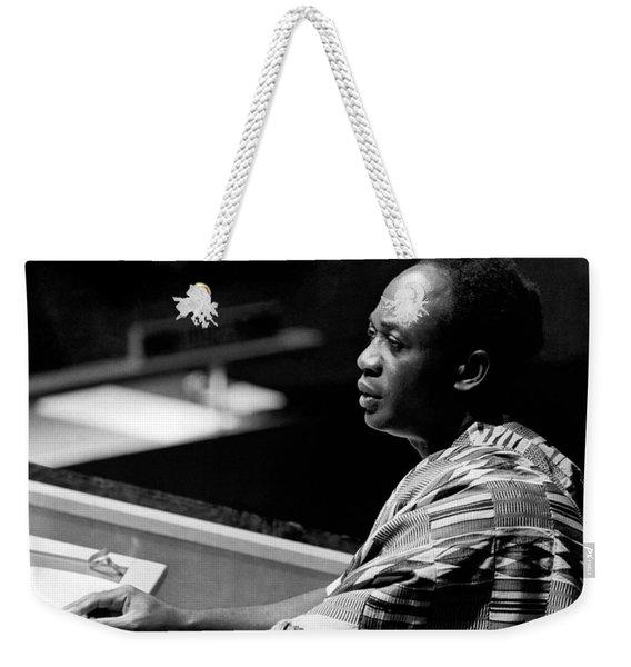 Ghana President Kwame Nkrumah Weekender Tote Bag