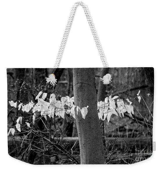 Ghost Leaves Weekender Tote Bag