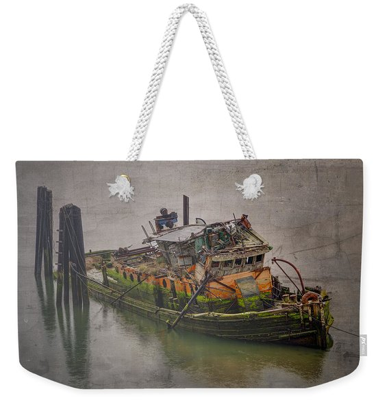 Ghost Steamer Weekender Tote Bag