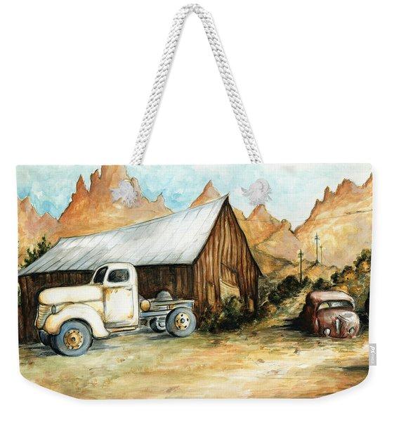 Ghost Town Nevada - Western Art Painting Weekender Tote Bag