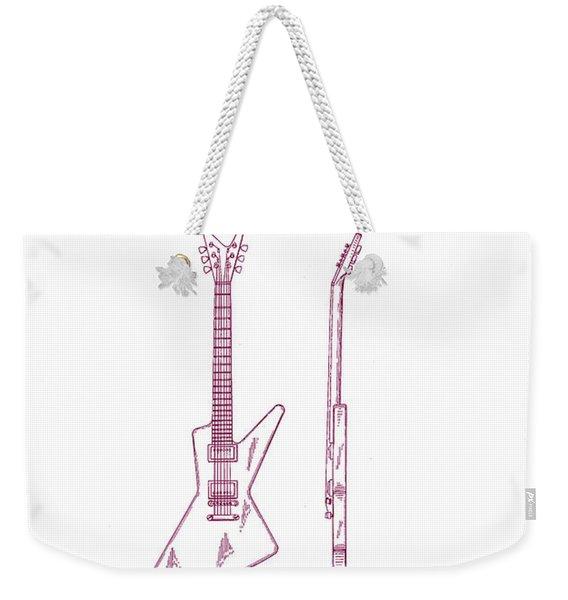 Gibson Explorer Guitar Patent Weekender Tote Bag