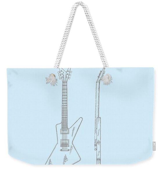 Gibson Explorer  Patent 1958 Weekender Tote Bag