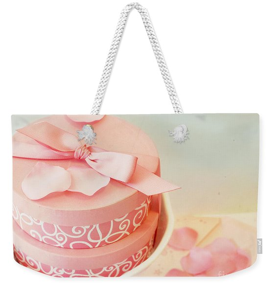 Gift Boxes And Rose Petals Weekender Tote Bag