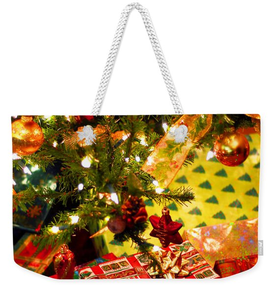 Gifts Under Christmas Tree Weekender Tote Bag