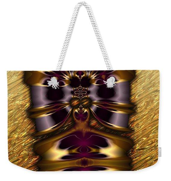 Gilded Fractal 11  Weekender Tote Bag