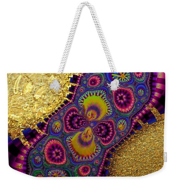 Gilded Fractal 3  Weekender Tote Bag