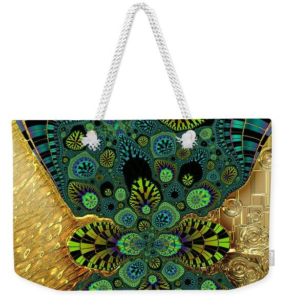 Gilded Fractal 5  Weekender Tote Bag