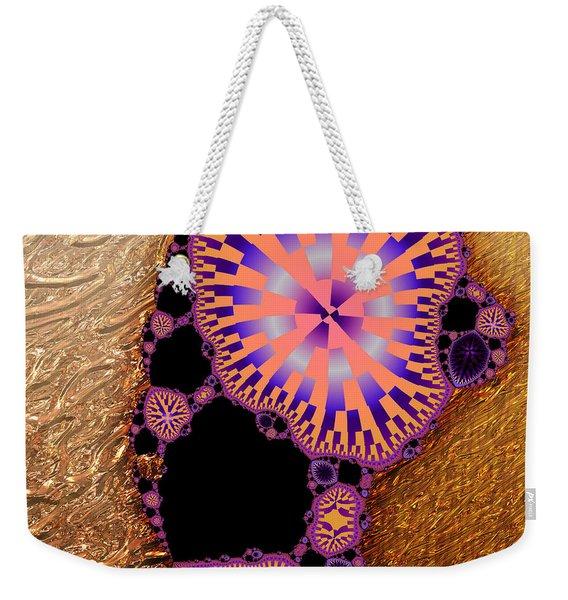 Gilded Fractal 6  Weekender Tote Bag