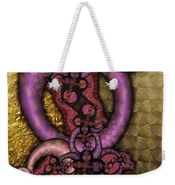 Gilded Fractal 9  Weekender Tote Bag