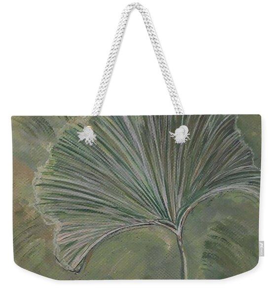 Ginko Leaf Weekender Tote Bag