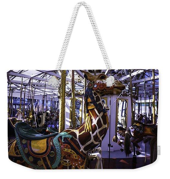Giraffe Carousel Ride Weekender Tote Bag