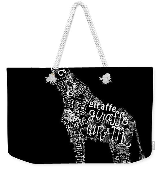 Giraffe Is The Word Weekender Tote Bag