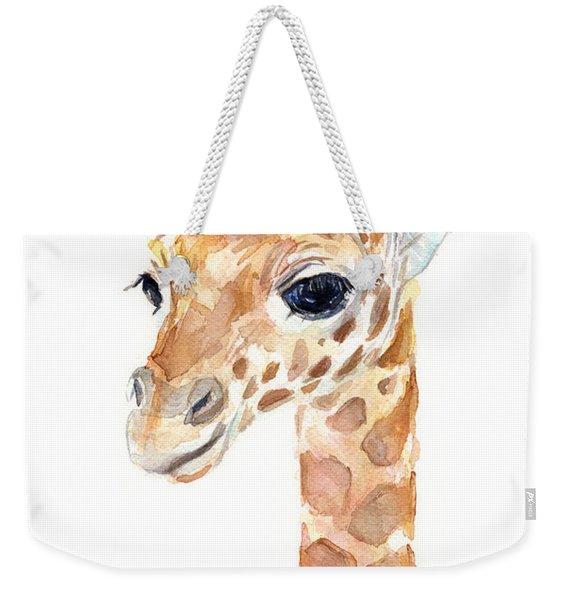 Giraffe Watercolor Weekender Tote Bag