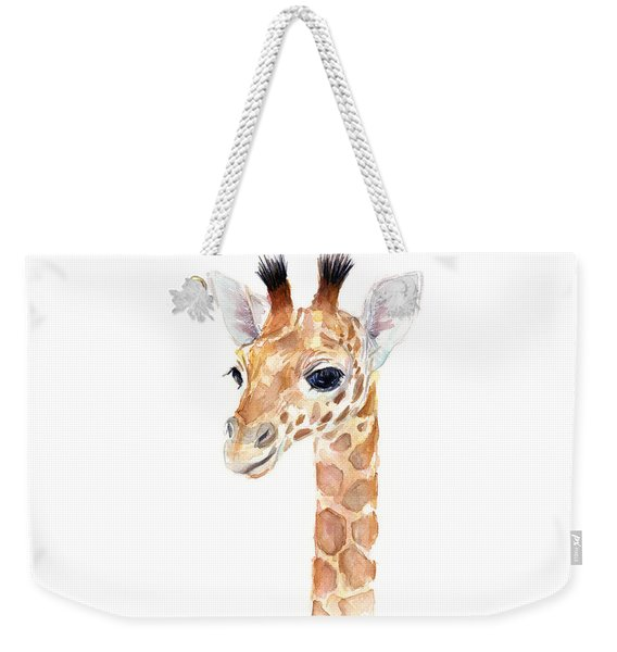 Giraffe Watercolor Weekender Tote Bag