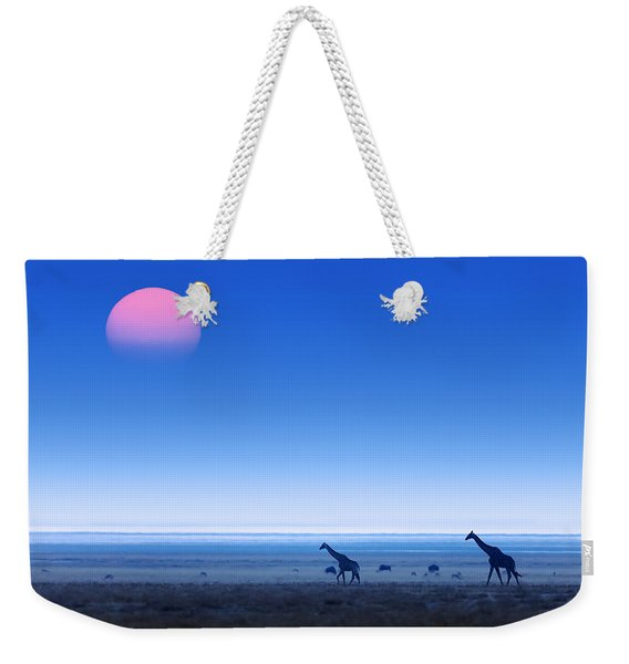 Giraffes On Salt Pans Of Etosha Weekender Tote Bag