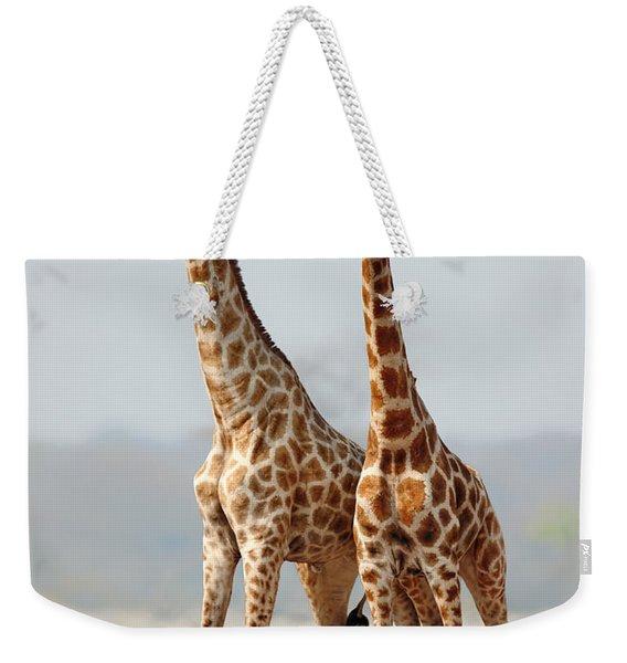 Giraffes Standing Together Weekender Tote Bag