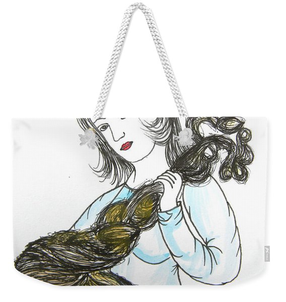 Girl And Tow Weekender Tote Bag