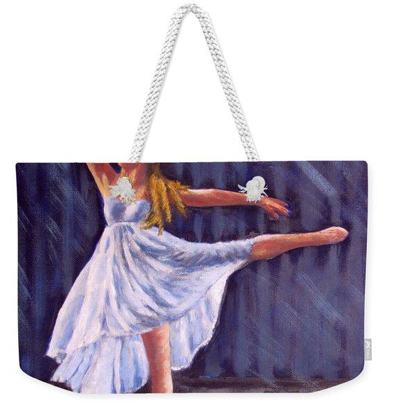 Girl Ballet Dancing Weekender Tote Bag