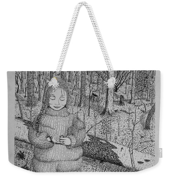 Girl In The Forest Weekender Tote Bag