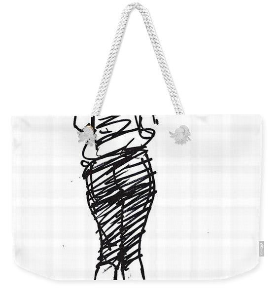 Girl Sketch Weekender Tote Bag