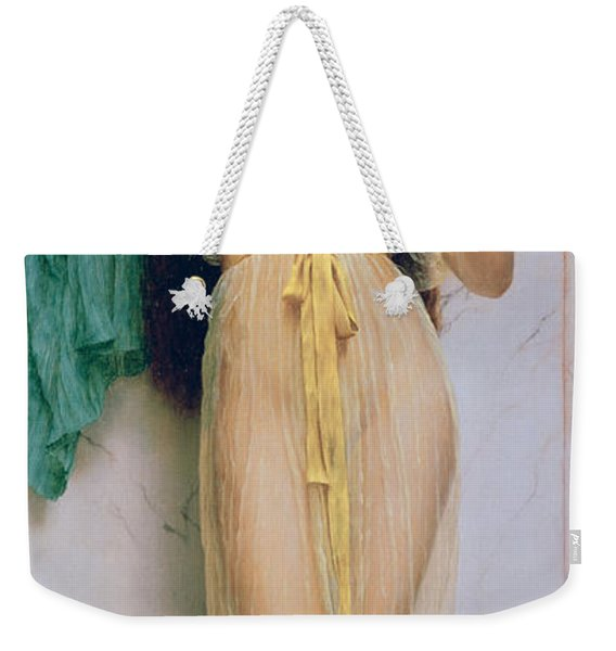 Girl With A Mirror Weekender Tote Bag