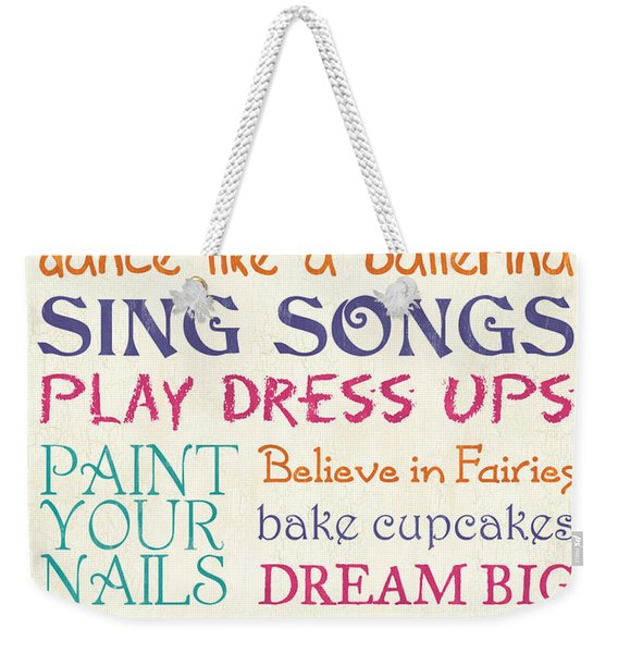 Girls Rules Weekender Tote Bag