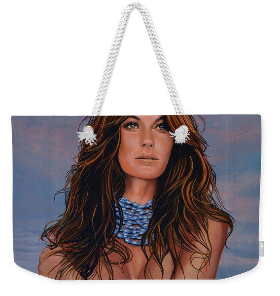 Gisele Bundchen Painting Weekender Tote Bag