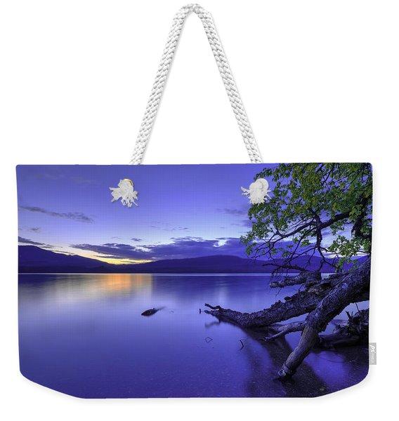 Glacier Blue Weekender Tote Bag