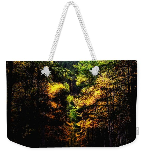 Glacier Fall Road Weekender Tote Bag