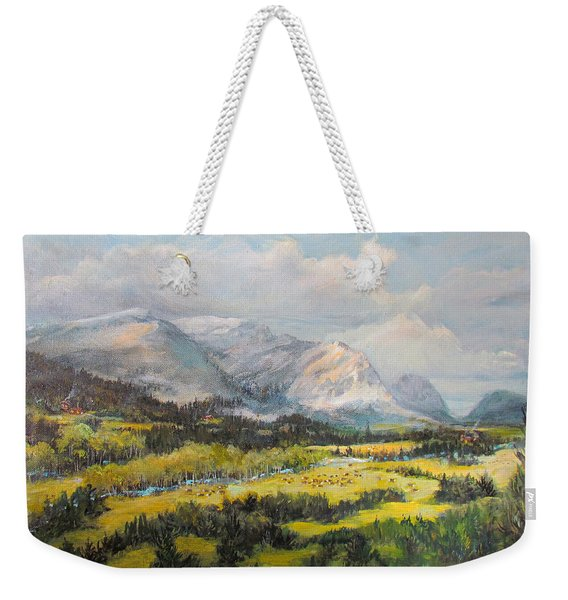 Glacier Splendor Weekender Tote Bag