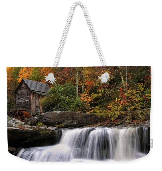 Glade Creek Grist Mill - Photo Weekender Tote Bag