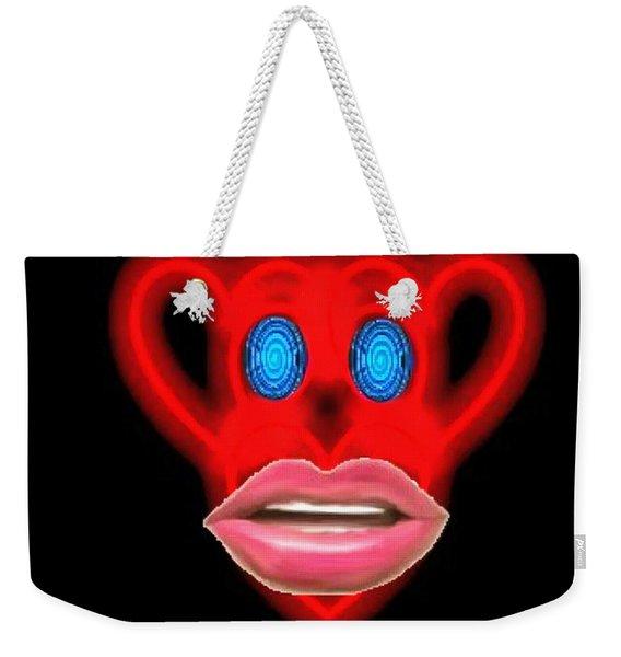 Glamour Monkey Blue Whirls Weekender Tote Bag