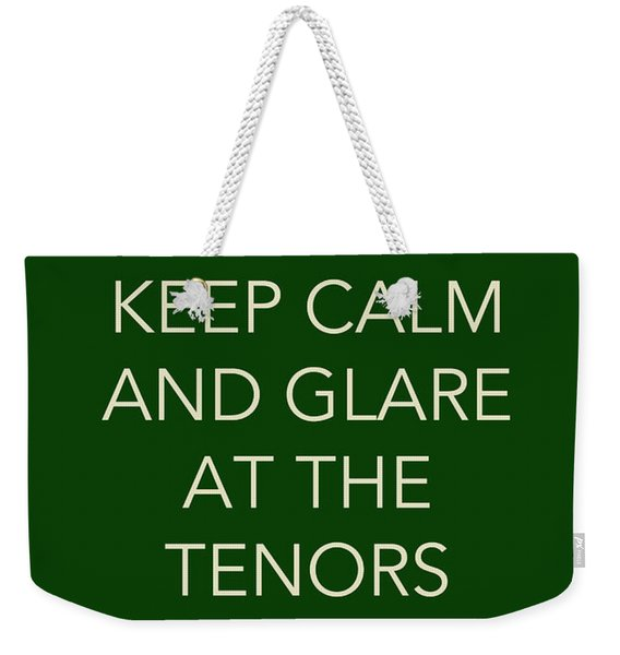 Glare At The Tenors Weekender Tote Bag