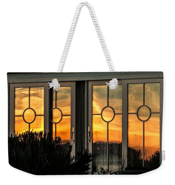 Glass Doors Aglow Weekender Tote Bag