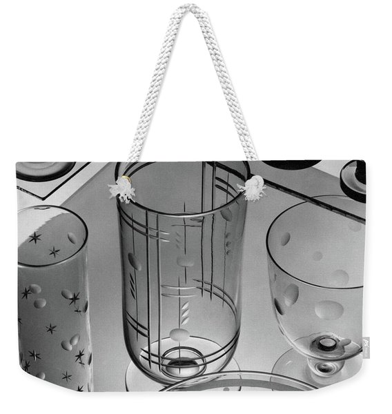 Glasses And Crystal Vases By Walter D Teague Weekender Tote Bag