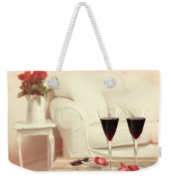 Glasses Of Red Wine Weekender Tote Bag
