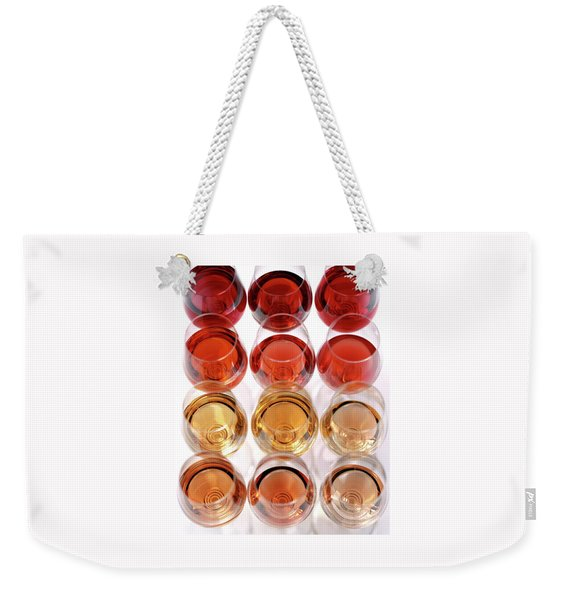 Glasses Of Rose Wine Weekender Tote Bag